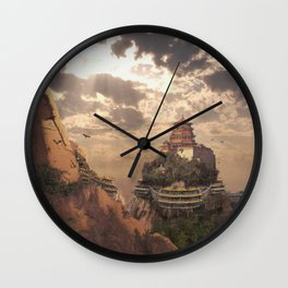 Mountain Monastry Wall Clock
