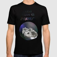 ...Less than 12 Parsecs Mens Fitted Tee Black SMALL