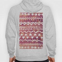 Loose boho chic pattern - purple brown Hoody