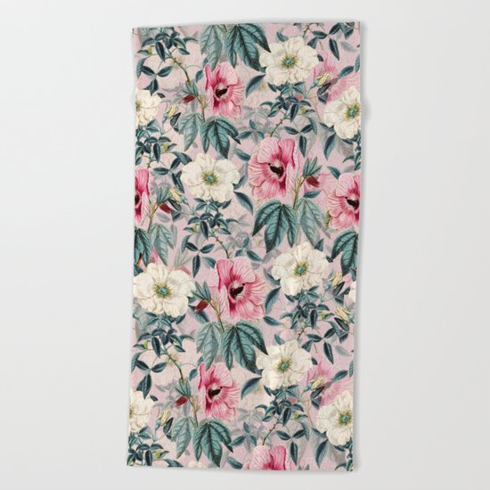 TROPICAL GARDEN IV Beach Towel