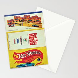 1969 Hot Wheels Redline Toy Cars Shell Gas Station Promotional Poster Stationery Cards