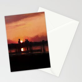Watching the Sunset Stationery Cards
