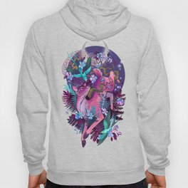 Majestic Midnight Pink Whitetail Doe Hoody