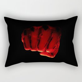 One Punch Fist Rectangular Pillow