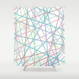 Lazer Dance Colorful Shower Curtain