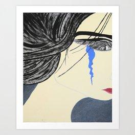 A Single Tear (light) Art Print