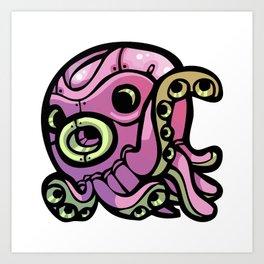 Pink Gorilla X Enfu Octopus Mech Art Print