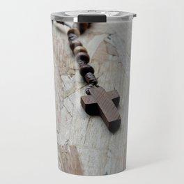 Wooden rosary Travel Mug