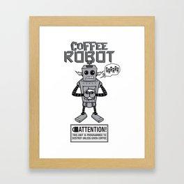 Coffee Robot Framed Art Print
