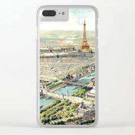 Paris World Fair 1900 Clear iPhone Case