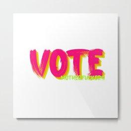 VOTE, but harsh Metal Print