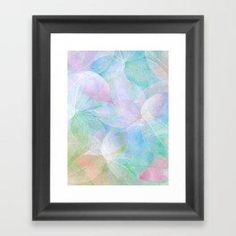 Pastel Colored Leaf Skeletons Framed Art Print