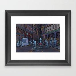 Number City Framed Art Print