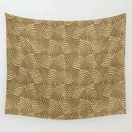 Golden glamour metal swirly surface Wall Tapestry
