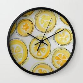 Lemons (Lined)  Wall Clock