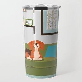 Happy Beagles Make A House A Home Travel Mug