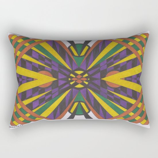 Purple Cross Rectangular Pillow
