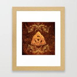The celtic sign  Framed Art Print