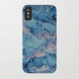 Crashing- Alcohol Ink Painting iPhone Case