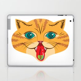 Kiss Me Ginger Cat Laptop & iPad Skin