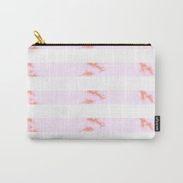 Pink Marble Stripes Carry-All Pouch