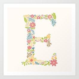 Alphabet E Art Print