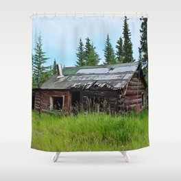 Alaskan Frontier Cabin Shower Curtain