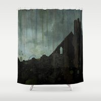 celtic Shower Curtains featuring Celtic ruin  by IvanaW