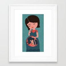 pregnant business Framed Art Print