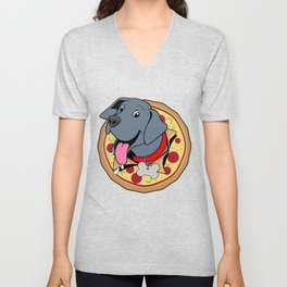 Pizza Puppy Unisex V-Neck