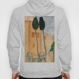 "Amedeo Modigliani ""Cypresses and Houses at Cagnes (Cyprès et maisons à Cagnes)"" Hoody"