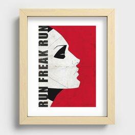 Run Freak Run - Red Recessed Framed Print