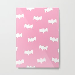 BAT PINK Metal Print
