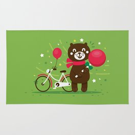 Sweet Bear with Giant Lollipop Rug