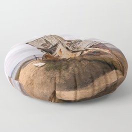 Point Reyes Shipwreck Photography, California Home Decor, Inverness Art, National Seashore Art, Boats Floor Pillow