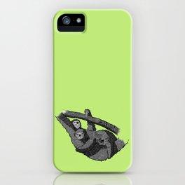 Newspaper Sloths iPhone Case