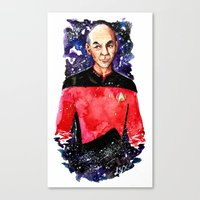 picard Canvas Prints featuring Captain Picard Day by Lady Yate-xel