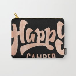 HAPPY CAMPER Rose Gold on Black Carry-All Pouch