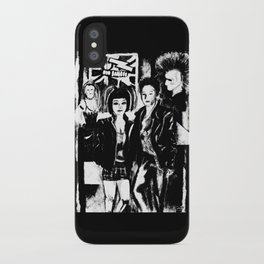 Alternative fashion and leather jacket style at the club iPhone Case