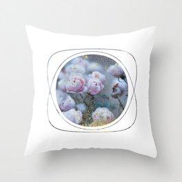 Subtly Flourishing - Circle Throw Pillow