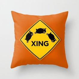 Sheep XING Red Orange Throw Pillow