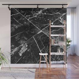 Black Granite Tiles Wall Mural