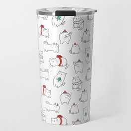 Fat Christmas cats Travel Mug