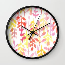 170814 Leaves Watercolour 8 Wall Clock