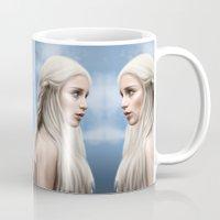daenerys Mugs featuring Khaleesi (Blue Sky) by Jason Cumbers