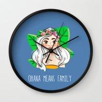 ohana Wall Clocks featuring Ohana by Jessi's Art