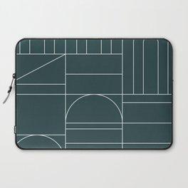 Deco Geometric 04 Teal Laptop Sleeve
