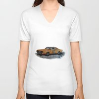general V-neck T-shirts featuring General Lee by AshyGough
