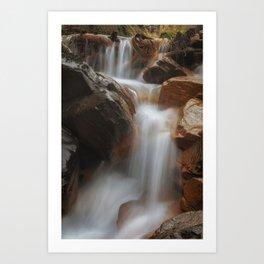 Melincourt Brook waterfall Art Print