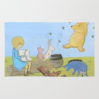 pooh Area & Throw Rugs featuring Winnie the Pooh by Marilyn Rose Ortega